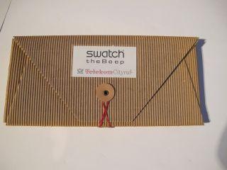 Swatch The Beep Mappe Mit Infomaterial Uhr Bild