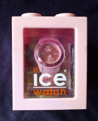 Armbanduhr Ice Watch Sili Pink Small Si.  Pk.  S.  S.  09 Im Würfel Bild
