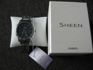 : Casio Sheen,  Damenuhr,  She - 3802d - 1adr,  Orig.  Verpackt,  Weihnachten Bild