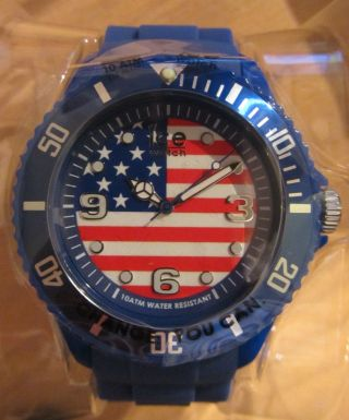 Ice Watch Ice World Usa Amerika Sehr Selten Blau Big Uhr Wo.  Us.  B.  S.  12 Neu/ovp Bild