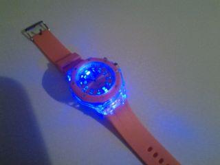 Armband Uhr Silikon Farbwechselspiel Bild