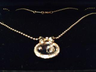 Chopard Happy Diamonds 18k Gelbgold Collier Mit Gutachten. Bild