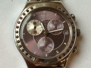 Schöne Swatch Chronograph Stahl Damen Armbanduhr Bild