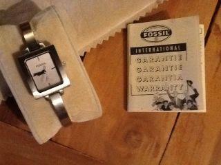 Fossil Uhr Damenuhr Spangenuhr Silber Bild