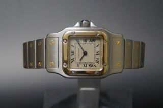 Cartier Santos Galbee Stahl/gold Lady Damenuhr Klassiker Luxusuhr Bild