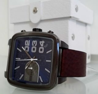 Diesel Dz 4302 Square Franchise - Xl Edelstahl Chronographen Uhr - Ø 5,  0 Cm Bild