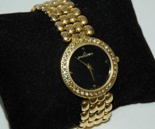 Jacques Lemans Uhr Damen Steinchen Gold Plated N.  739 Bild