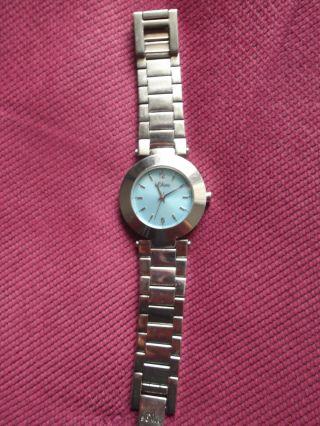 Damen Uhr Armbanduhr Silber Blau S.  Oliver Edel Bild