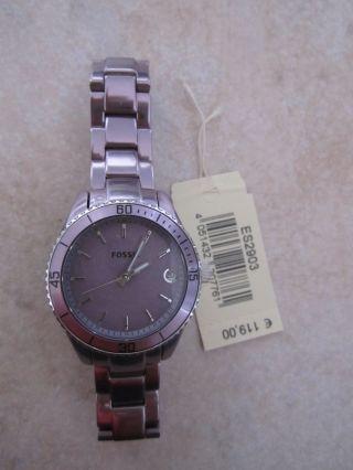 Fossil Damen Uhr Lila Metall Edelstahl – – Weihnachtsgeschenk Bild