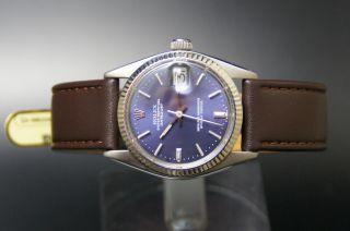 Rolex Datejust Perpetual Medium Damenuhr Stahl / Weissgold Ref 6827 Cal.  2030 Bild