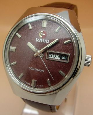 Rado Companion Glasboden Mechanische Uhr 17 Jewels Datum & Tag Lumi Zeiger Bild