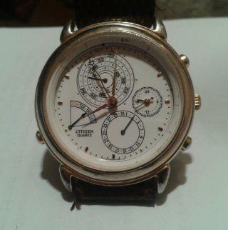 Vintage Uhr Watch Citizen Perpetual Ewiger Kalender Bild