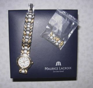 Orig.  Maurice Lacroix Damen Uhr Stahl/gold Bild