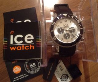 Ice Watch Ch.  Bk.  U.  S.  10 Chrono Black Unisex Schwarz Armbanduhr Bild