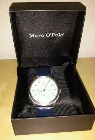 Marc O ' Polo Time Chronograph Herren Damen Arm Band Uhr 4213101 Bild