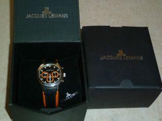 Jacques Lemans Capri 1 - 1631 Armbanduhr Armband Uhr 40mm Leder Damen Herren Ovp Bild