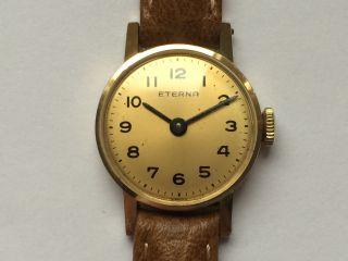 Schöne Eterna (14k - 585er) Gelbgold Damen - Handaufzug Bild