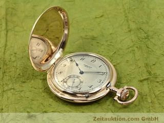 Iwc Schaffhausen 14k Gold Savonette Taschenuhr Handaufzug Von 1910 Bild