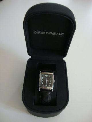 Emporio Armani - Uhr Armbanduhr Unisex - Herren - Damen - Schwarz - Bild
