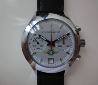 Poljot Sturmanskie 3133 Uhr Chronograph Chrono Nos Militäruhr Udssr Sowjet Bild