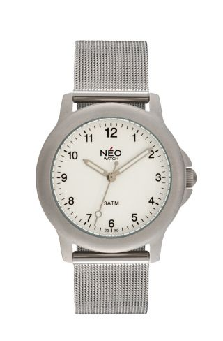 Neo Watch Pure Silver Damenuhr Armbanduhr Edelstahlarmband Silber N5 - 011 Bild