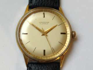 Junghans Armbanduhr,  Vintage Sammleruhr,  Cal.  93s1,  Vor Max Bill 1965 Bild