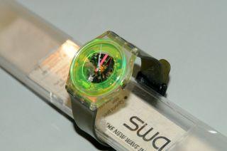 Swatch Gent Techno - Sphere Gk101 1985 Gelbgrün Herren - Armbanduhr Batt.  Ovp Bild