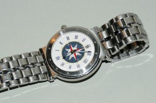 Seiko Windrose Quartz Herren - Armbanduhr Mit Kompass - Abbildung Im Zifferblatt Bild