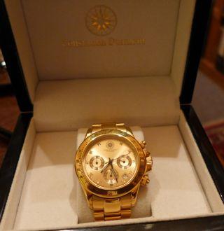 Constantin Durmont Chronograph 8 Diamanten Eingearbeitet Im Ziffernblatt Bild