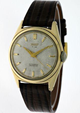 Vintage Tissot T12 Seastar Automatik Herren Gold Sechziger Jahre SammlerstÜck Bild