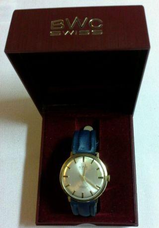 Bwc Swiss Automatick 25 Incabloc (585 - Er Gold) Männer Armbanduhr Mit Ovp Bild