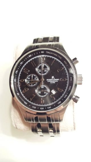 Jacques Lemans,  Chronograph,  Datum,  10atm,  43mm,  Referenz 1 - 1284 Bild