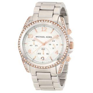 Michael Kors Mk5459 Damenuhr Armbanduhr Silber - Rosegold Ovp Bild