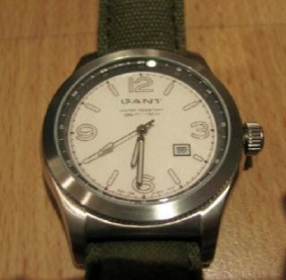 Orig.  Herren Armbanduhr Gant Time Watches Uhr Xl Rockland Leder Textil W70212 Bild