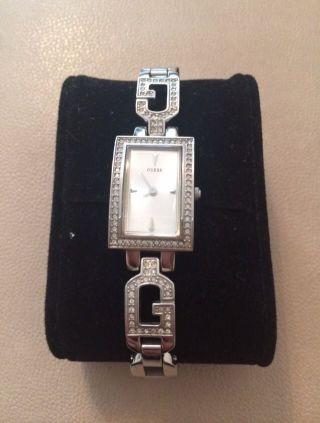 Guess Uhr Damenuhr Damen Silber Zirkonia Bild