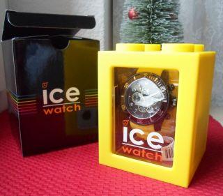 Ice Watch Ice - Chrono Armbanduhr Big Unisex Schwarz / Gelb (ch.  By.  B.  S.  10) Bild
