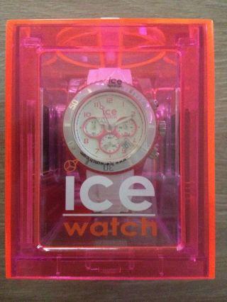 Ice Watch Chrono Party Cosmopolitan Weiß Pink Ch.  Wpk.  U.  S.  13 Bild