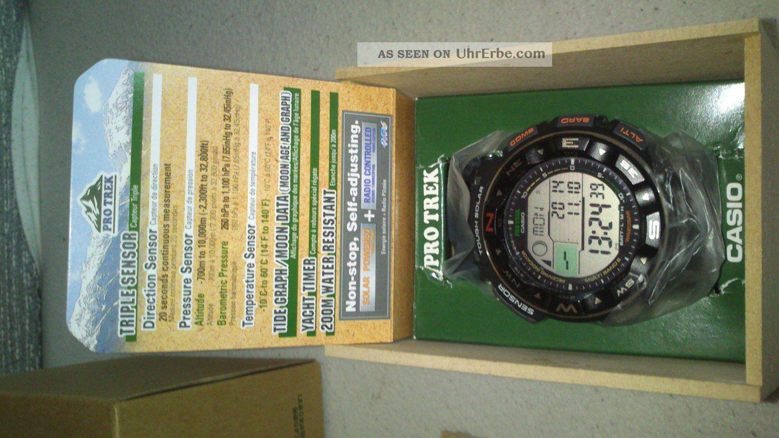 Casio Pro Trek Prw - 2500 - 1er Neuwertig Inkl Ovp Armbanduhren Bild