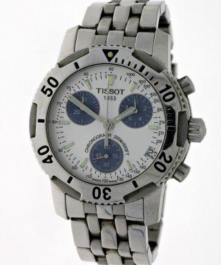 Tissot Prs 200 Sport`s 200m Diver Chronograph Edelstahl Saphirglas Box&papiere Bild