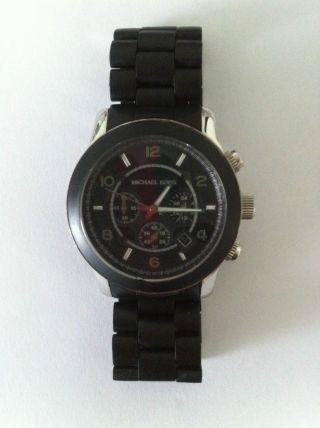 Michael Kors Herren Uhr,  Chronograph,  Schwarz Bild