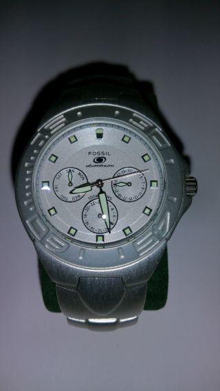 Fossil Blue Aluminum Armbanduhr Al - 2310 Bild