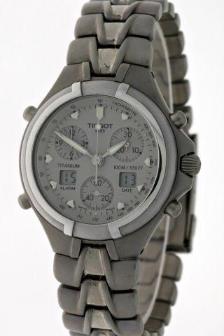 Seltener Tissot Alarm Chronograph Titanium Analog&digital - Box&papiere - 1998 Bild