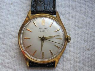 Alte Hau Junghans 17 Jewels Trilastic Bauhaus - Stil Vergoldet 20 Mic.  J93/1 Bild