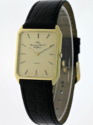 Vintage Iwc Schaffhausen 14kt.  Gold Herren Dresswatch Quartz Siebziger Jahre Bild