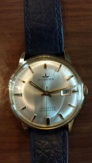 Uhr Armbanduhr Alte Dugena Mechanisch Handaufzug Bild
