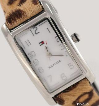 Tommy Hilfiger Damenuhr / Damen Uhr Reversible Leder Fell 1781111 Bild