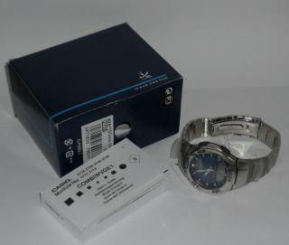 Casio Wva - 105hde - 2aver,  Wave Ceptor,  Herren Uhr,  Funkuhr,  Ungetragen Mit Etikett Bild