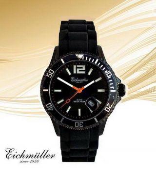 Beliebte EichmÜller Uhr Xl Taucher Uhr 10 Atm Lifestyle Design Edelstahl Schwarz Bild