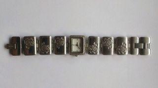 Fossil Damenuhr Ladies Dress Es2624 Silber Edelstahl Strass Bild