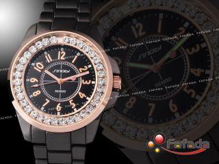 Sinobi Quartz Damenuhr Damenarmbanduhr Damen Armbanduhren Uhr Mit Strass Bild